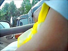 Тиц к водитель грузовика мигает