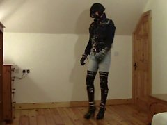 Amazing Latex ve Jeans Deri PVC Fetish THBoots