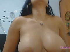 Natural big tits Latina amateur finds a recent fucker