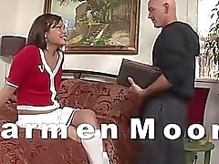 TS cheerleader Carmen Moore anal drilled