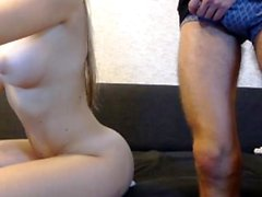 Chubby Student Slow Blowjob Amateur Girlfriend Handjob