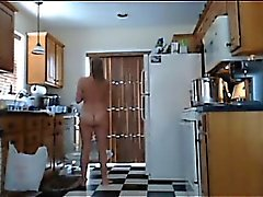 Kitchen nudism my mom on spy camera