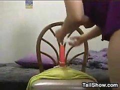 BBW babe solo diversão na webcam