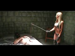 Hot Mistress Beats Slave