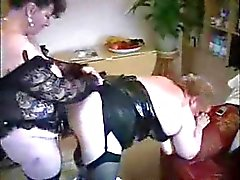 My old mom fucked by her girlfriend. Stolen video