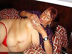 Роговые Mexico Grannies и ее удивительной голым телом