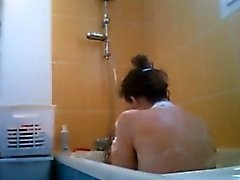 My aunt unaware of bathroom spy cam