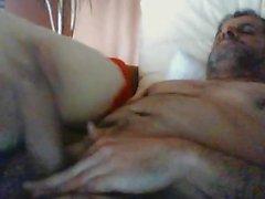 Hot spanish daddy cumming