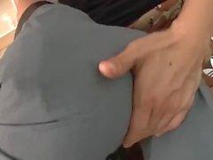 Reverse crossdresser gets her ass destroyed