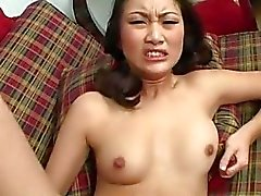 Chinese slut Evelyn Lin gets pounded up her moist minge