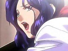 Emocionado de de la señora de Hentai portazo en el escritorio