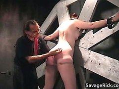 Nasty brunette Catherine is sex slave part6