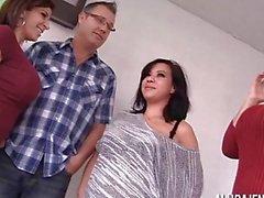 Alura Jenson Sara Jay Kimmy Lee in foursome