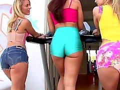 POV with 3 anal sluts