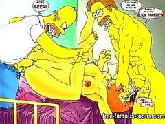 Simpsons hentai porno parodia