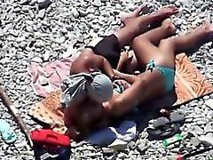 Hambriento de sexo par ir a la playa y entrar en algunos ca caliente