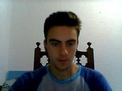Portugiesisch Netter Junge mit Rock Hard Hahn, Blase Ass auf Cam
