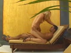 Blonde Tgirl in mutual fun