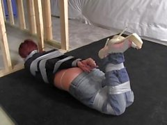 Babysitter taped up in the basement