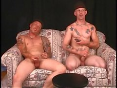 2 str8 brothers with big cocks jack off, talk about dad&#039_s big cock.