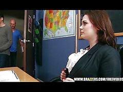 Hot leraar laat haar student fuck haar ruwe