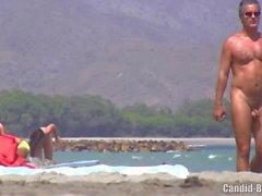 Nudist Milfs beach voyeur HD Video Spycam Part One