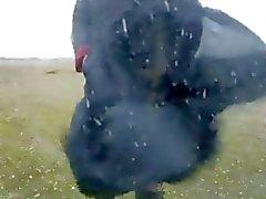 black satin abaya windy