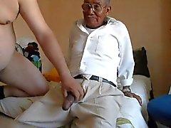 Alten Mann verdammt des Fett