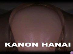 Kanon Hanai sente grande penis smacking il suo cespuglio
