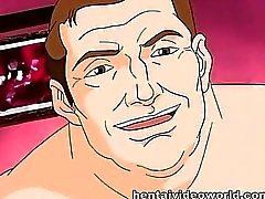 Empregada atendendo big cock O que com ilustrações de anime chupada