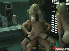 Jesse Jane and Riley Steele sharing cum
