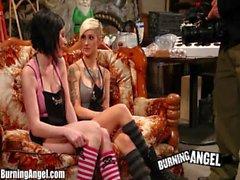 Burning Angel Kleio and Veruca Ass Fucking Threesome Fun