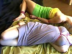 Constanta and Lilith Hogtied and Struggling