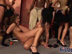 Foxy Girls haben Spaß im Club