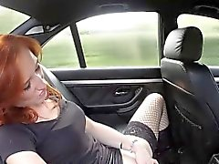 Ginger newbie sucks fake cops cock for cash