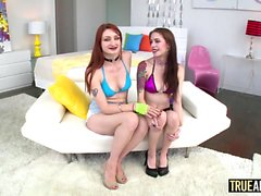 Anna And Violet Anal Three Way