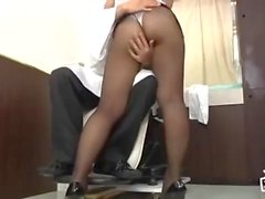 Asian in pantyhose 10