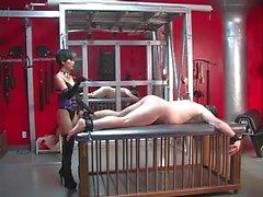 Punishing Mistress usa uma alça de couro