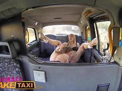 Female Fake Taxi Horny minx has steamy taxi sex with bisexua