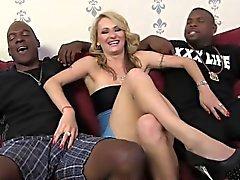 Euro Slut Natasha Starr Gets DP'd By Black Men