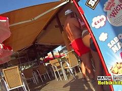 Increíble Bikini Cameltoe Teen Close-Up voyeur Spycam