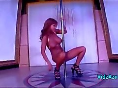 Busty Asian Stripper Rubbing Her Pussy With The Pole Fingering Herself In The Club