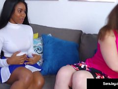 Sexaholic, Sara Jay Teaches Cheerleader Jenna Foxx A Lesson!