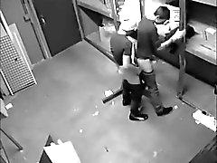 2 fucking guys caught by hidden cam