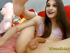 transsexuelle teen flexible joue webcam bite