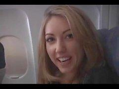 Сарой Peachez - самолет минета