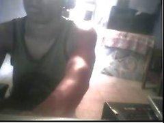 Straight guys feet on webcam #90