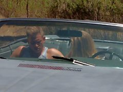Blonde in boots Nicole Aniston gets humped outdoors