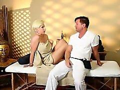 Very tricky spa of sleek masseur