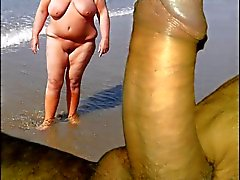 SONJA 5 , On stranden i med min kuk .